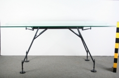 Stůl sklo/kov FLP 01132  1ks  Rozměry: 210x85x90 cm  Týdenní půjčovné: 2.000,- Kč